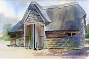 More information on Worcestershire Barn 9 x 13 inches Watercolour on Watercolour Paper
