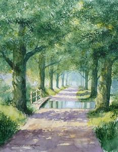 Buy Summer Lane 14 x 18 inches watercolour on watercolour paper Online