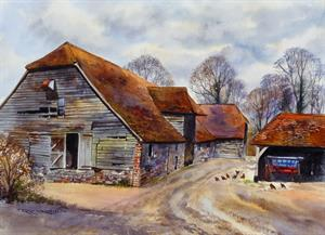 More information on Ancient Sussex Barn 17 x 23 inches Watercolour on Watercolour Paper