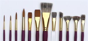 Complete Brush Set for Watercolours, Acrylics or Oils
