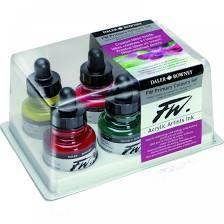 More information on Daler Rowney FW Primary Colours Acrylic inks x 6