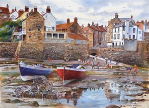 Buy Robin Hoods Bay 21 x 29 inches watercolour on Watercolour board Online