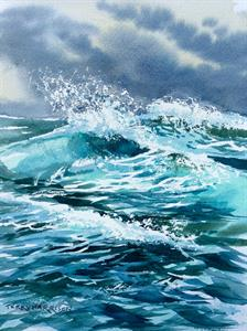 Buy Choppy Water 9 x 12 inches Watercolour on Watercolour Paper Online