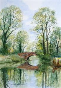 Buy Reflections in Spring 13 x 18 inches watercolour on board Online
