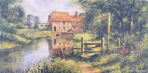 Buy The Water Mill  8 x 16 inches Online