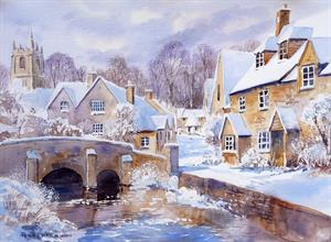 Buy A Cotswold Winter 13.5 x 19.5 inches Watercolour on Watercolour Paper Online