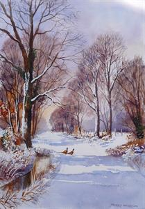 Buy A Winter Walk 13 x 19 inches Watercolour on Paper Online