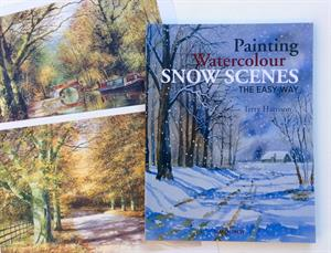 PAINTING WATERCOLOUR SNOW SCENES in English, French or Spanish PLUS a free print