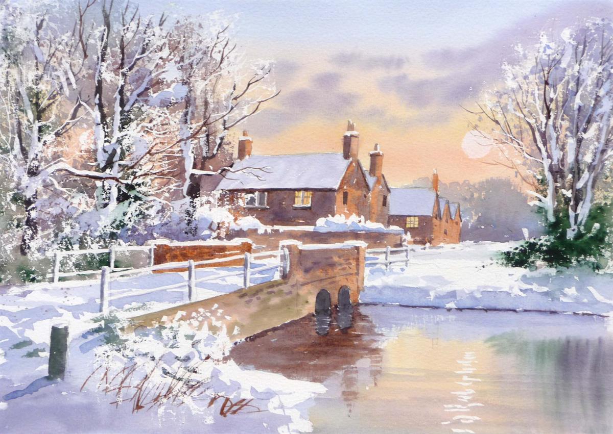 Dvd Snow Scenes In Watercolour